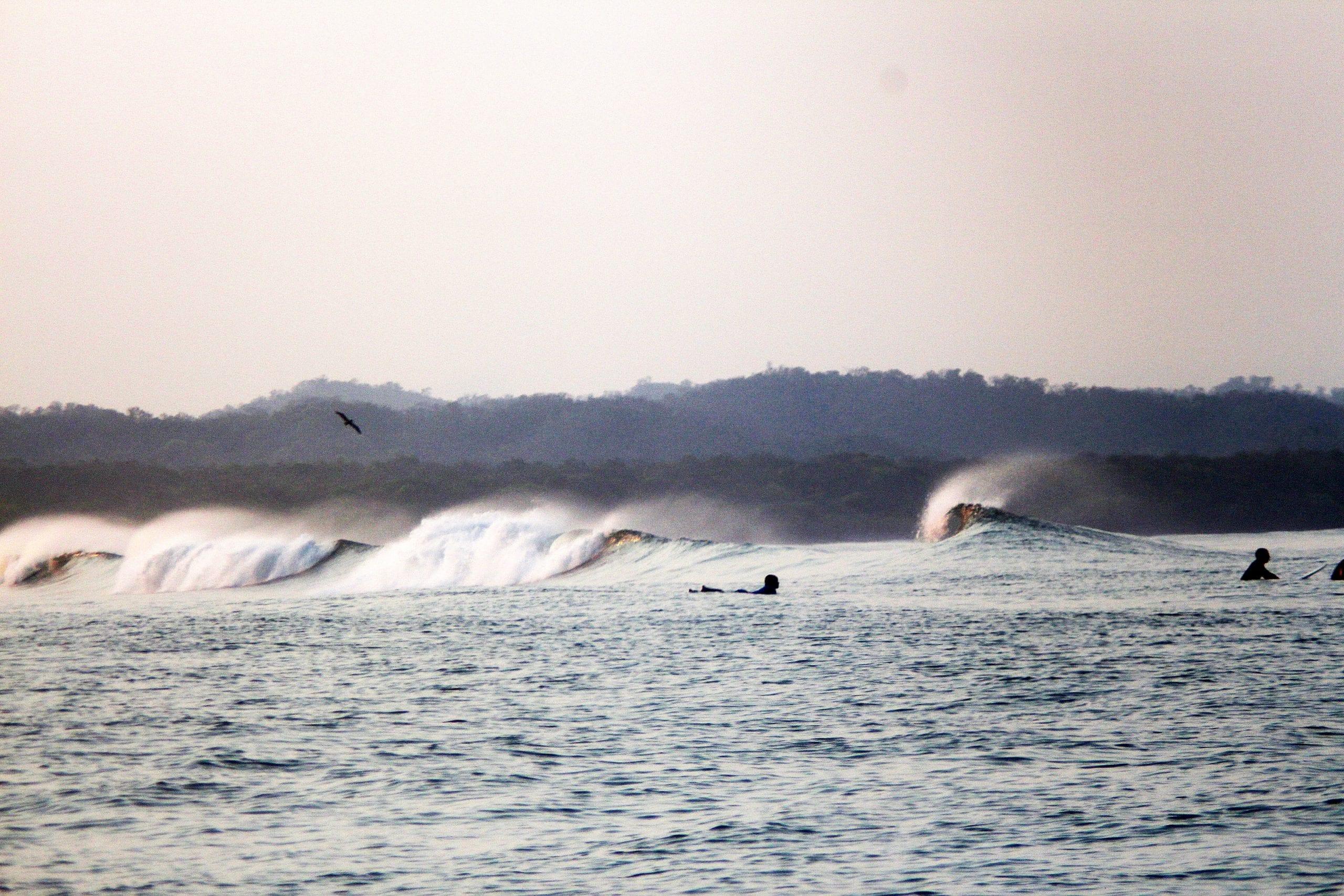 Waves breaking Surf Lodge Nicaragua